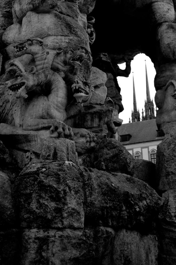 Pohled na Brno z jeskyně