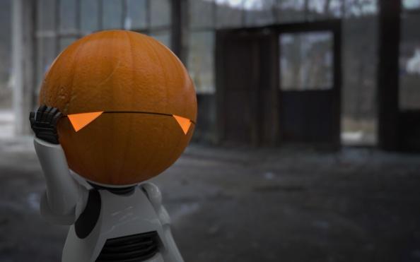 Here I am, brain the size of a ...pumpkin?