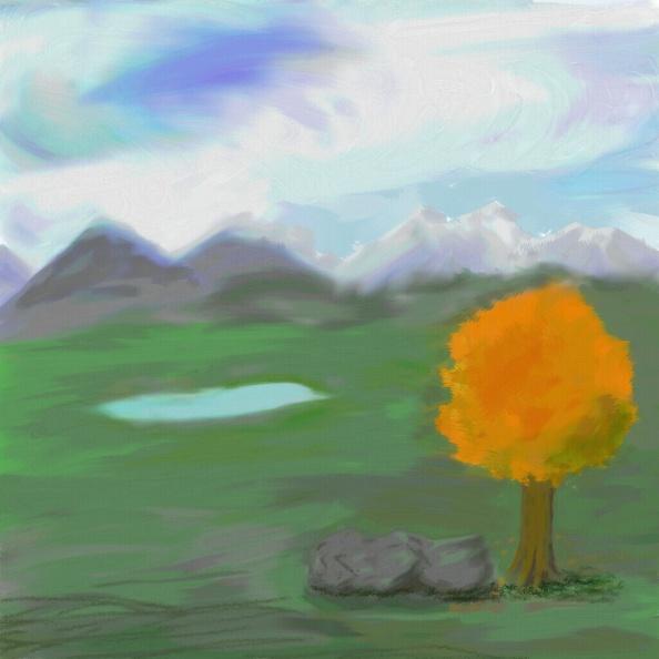 Místo fotky malá podzimní kravinomalba.